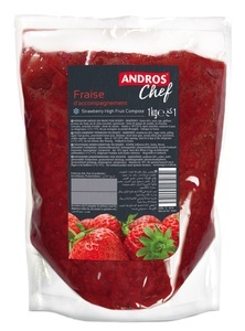 STRAWBERRY HIGH FRUIT COMPOTE 1KG POUCH
