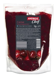 SOUR CHERRY HIGH FRUIT COMPOTE 1 KG POUCH