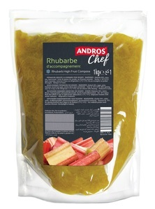 RHUBARB HIGH FRUIT COMPOTE 1 KG POUCH