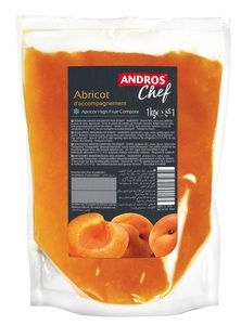 APRICOT HIGH FRUIT COMPOTE 1 KG POUCH